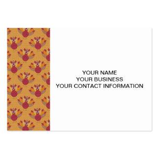 Thanksgiving Turkeys Pattern Business Card Templates