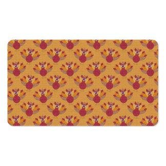 Thanksgiving Turkeys Pattern Business Card