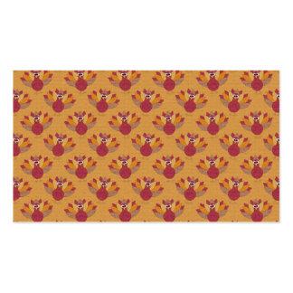 Thanksgiving Turkeys Pattern Business Card Template