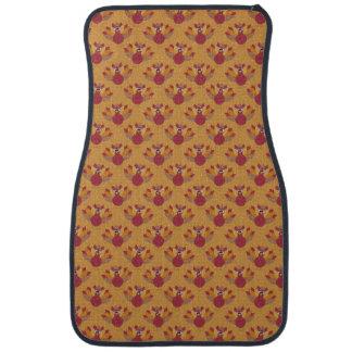 Thanksgiving Turkeys Pattern Car Mat