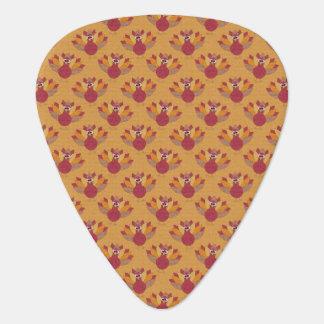Thanksgiving Turkeys Pattern Guitar Pick