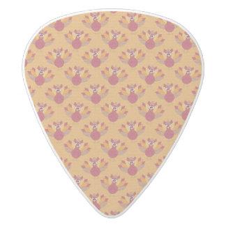 Thanksgiving Turkeys Pattern White Delrin Guitar Pick