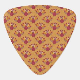 Thanksgiving Turkeys Pattern Plectrum