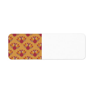 Thanksgiving Turkeys Pattern Return Address Label