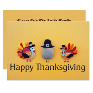 Thanksgiving Turkeys Pilgrim Card