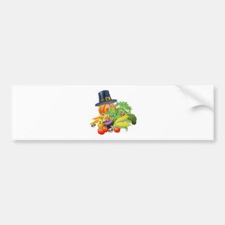 Thanksgiving vegatables illustration bumper sticker