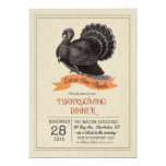 Thanksgiving Vintage Turkey Invitation