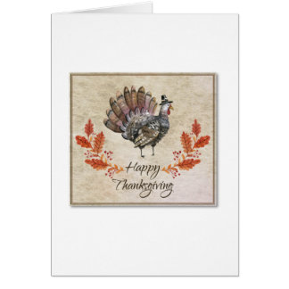Thanksgiving Watercolor Turkey Card