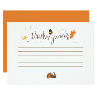 Thanksgiving what are you thankful for card