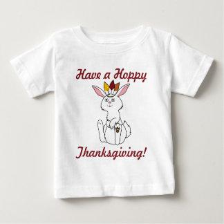 Thanksgiving White Rabbit with Indian Headdress T-shirt