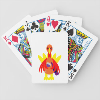 Thanksgiving Wine Drinking Turkey Bicycle Playing Cards