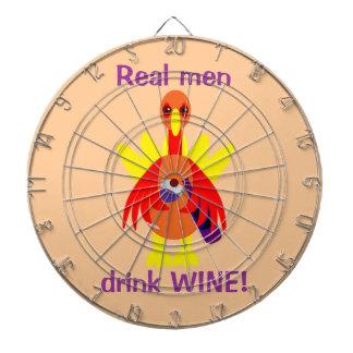 Thanksgiving Wine Drinking Turkey Dartboard