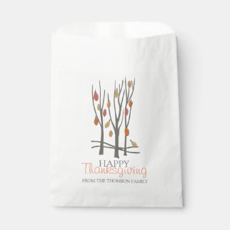 Thanksgiving winter tree personalised gift bags favour bags