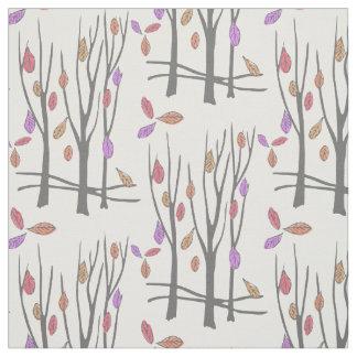 Thanksgiving winter trees fabric