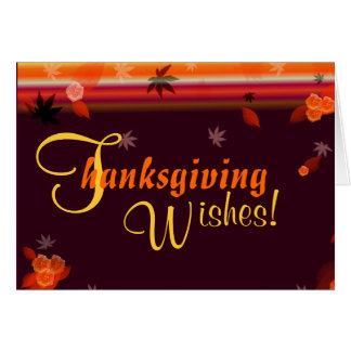 Thanksgiving Wishes (Blank Inside) Card