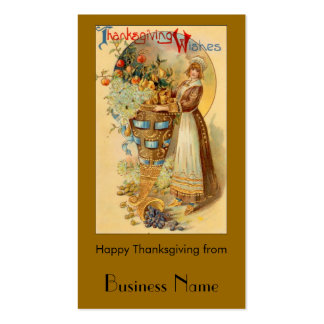 Thanksgiving Wishes Double-Sided Standard Business Cards (Pack Of 100)