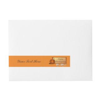 Thanksgiving Wrap Around Mailing Label Wraparound Address Label