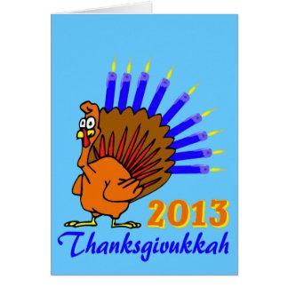 Thanksgivukkah 2013 Menurkey Greeting Cards