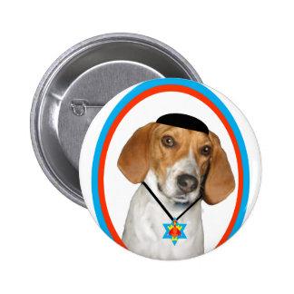 Thanksgivukkah Funny Hound Dog with Yamaka Pin