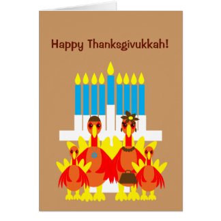 Thanksgivukkah Funny Turkey Family Greeting Card