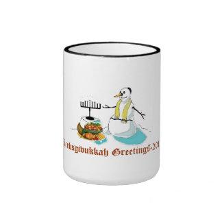 Thanksgivukkah Greetings Ringer Mug