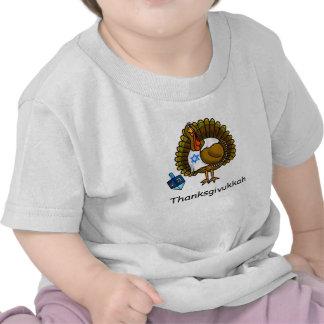 Thanksgivukkah Jewish Turkey Baby T-Shirt