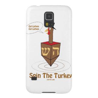 THANKSGIVUKKAH SPIN THE TURKEY HANUKKAH GIFTS GALAXY NEXUS CASE