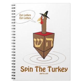 THANKSGIVUKKAH SPIN THE TURKEY HANUKKAH GIFTS SPIRAL NOTEBOOKS