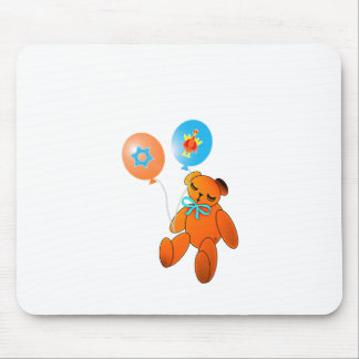 Thanksgivukkah Teddy Bear with Balloons Mouse Pad