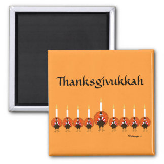 Thanksgivukkah Turkey Menorah Magnet