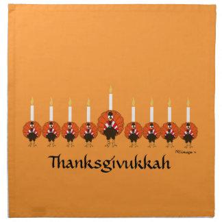 Thanksgivukkah Turkey Menorah Napkin