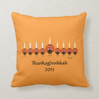Thanksgivukkah Turkey Menorah Pillow