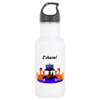 Thanksgivukkah Wine Toasting Turkeys 532 Ml Water Bottle