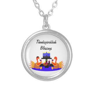 Thanksgivukkah Wine Toasting Turkeys Necklaces