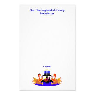 Thanksgivukkah Wine Toasting Turkeys Newsletter Stationery