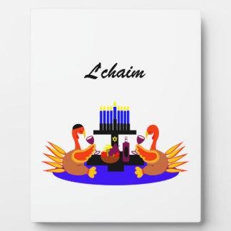 Thanksgivukkah Wine Toasting Turkeys Photo Plaque