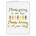 ThanksLiving Card - Vertical