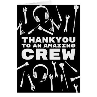 Thankyou Crew Greeting Card