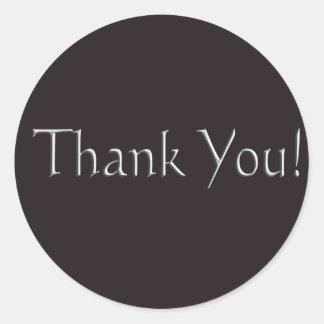 thankyou round sticker