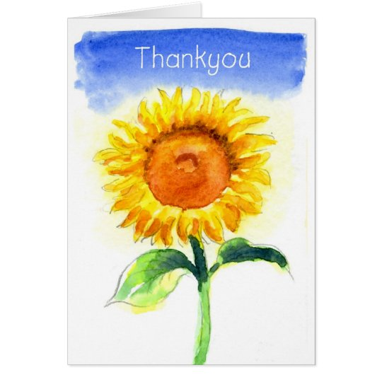 Thankyou sunflower card