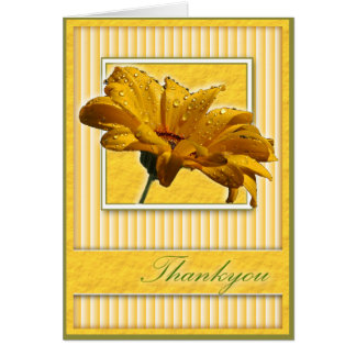 Thankyou Yellow Daisy Greeting Card