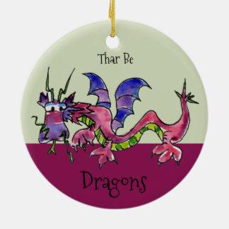 Thar Be Dragons Christmas Ornament