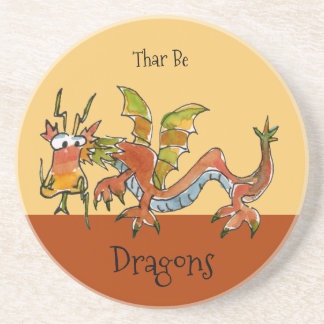 Thar Be Dragons Coaster