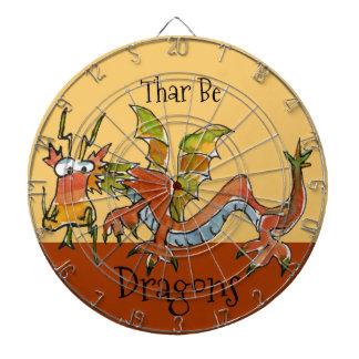Thar Be Dragons Dartboard