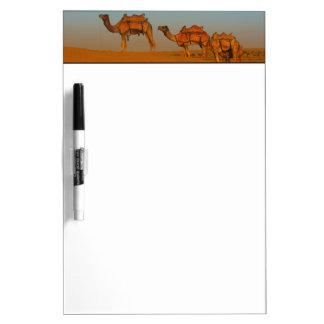 Thar desert, Rajasthan India. Camels along the Dry Erase Board
