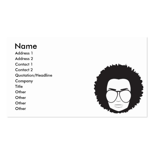 that 70s guy Double-Sided standard business cards (Pack of 100)