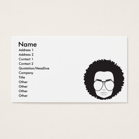 that 70s guy business card