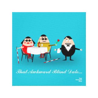 That Awkward Blind Date Canvas Print