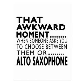 That Awkward Moment Alto Saxophone Designs Post Card