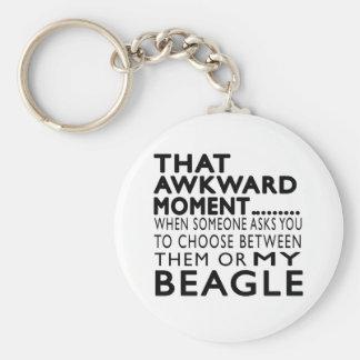 That Awkward Moment Beagle Key Chain